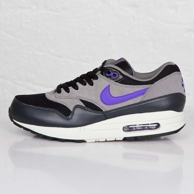 Nike Air Max 1 Essential 537383-005 Black Hyper Grape Light Ash Men's Shoe