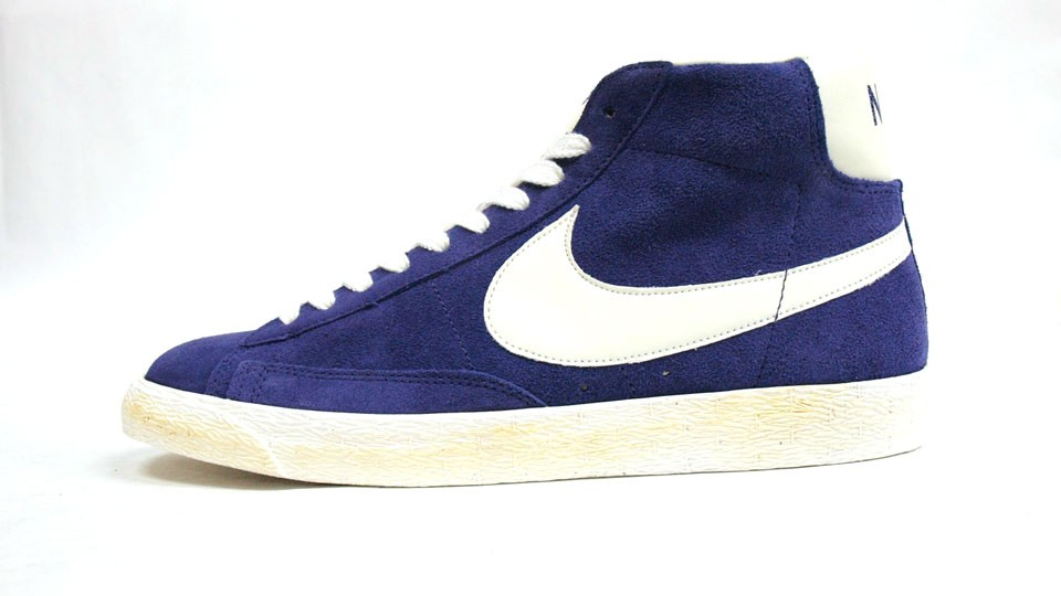 Nike Blazer High Suede Vintage 344344-500 Purple White Mens Laced Trainers
