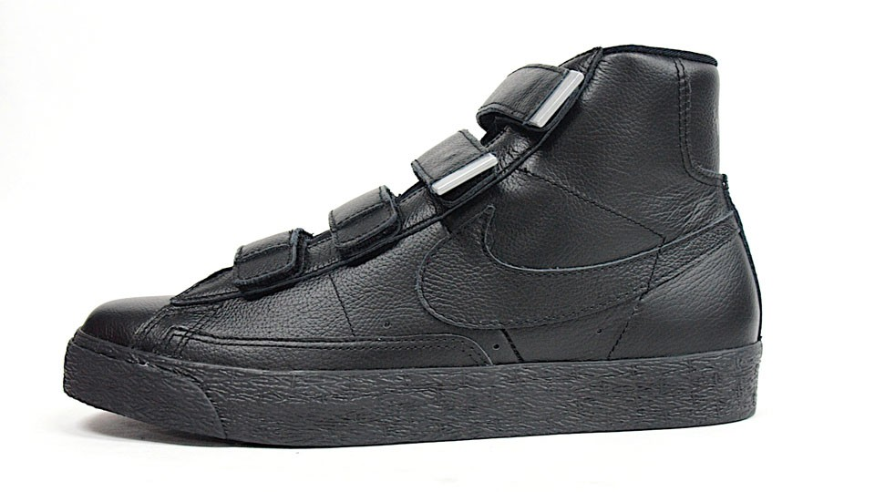 Nike Blazer AC High Velcro Black Pack 428926-001 Black Silver Men's/Women's Sneakers