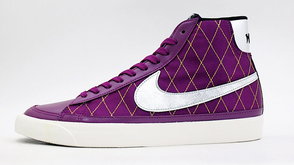 Nike WMNS Blazer Mid 09 ND 371761-501 Purple Silver Womens Shoes