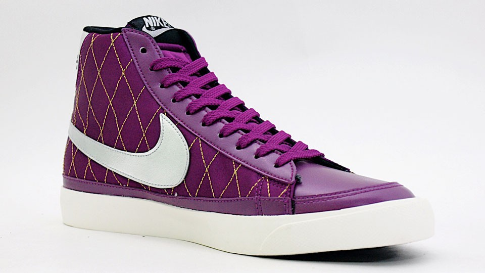 Nike Blazer Mid 09 ND 371761-501 Purple Silver Men's Shoe