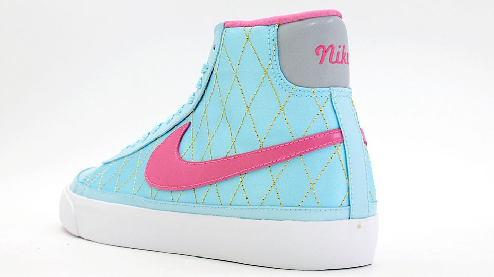 Nike WMNS Blazer Mid 09 ND 375573-400 Sax Blue Pink Womens Shoes