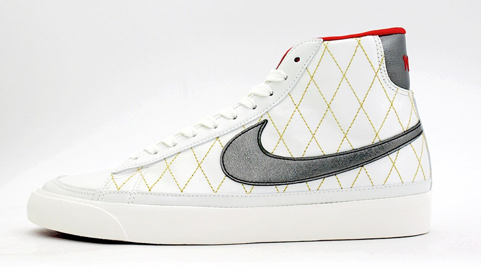 Nike Blazer Mid 09 ND 371761-102 White Silver Red Men's Shoe