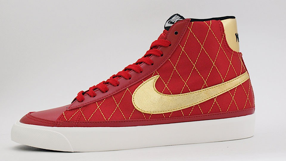 Nike WMNS Blazer Mid 09 ND 371761-600 Red Gold Womens Shoes