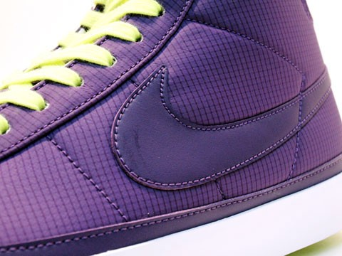 Nike Blazer Mid 09 ND 371761-500 Purple Neon Yellow Men's Shoe