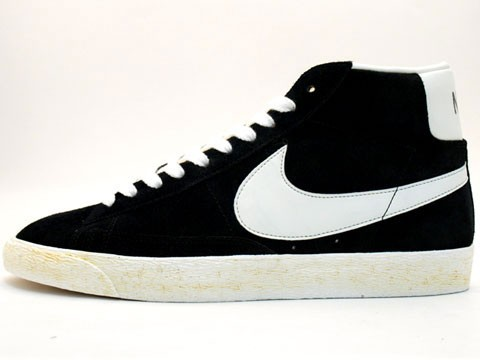 Nike Blazer High Vintage 375722-001 Black White Men's Shoe