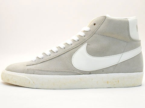 Nike WMNS Blazer High Vintage 375722-200 Grey White Womens Laced Trainers