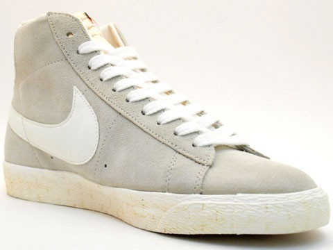Nike Blazer High Vintage 375722-200 Grey White Men's Shoe