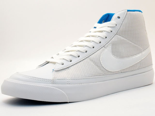 Nike Blazer Mid 09 371761-111 White Blue Men's Shoe