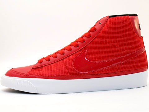 Nike Blazer Mid 09 371761-662 Red Black White Men's Shoe