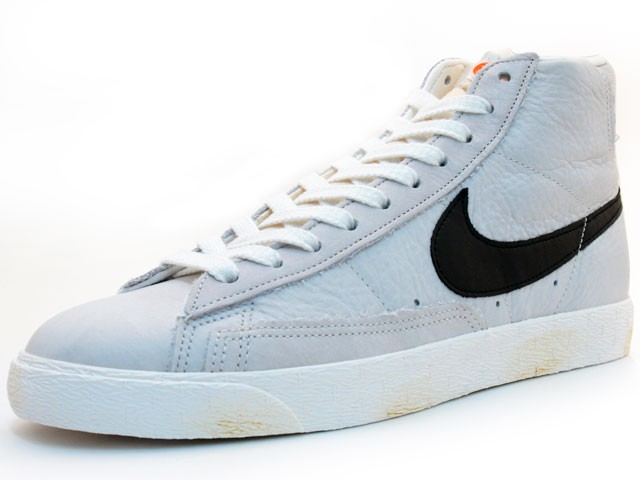 Nike Blazer High Vintage 375722-101 Grey Black Men's Shoe