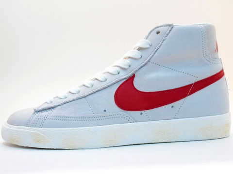 Nike Blazer High Vintage 375722-161 Grey Red Men's Shoe
