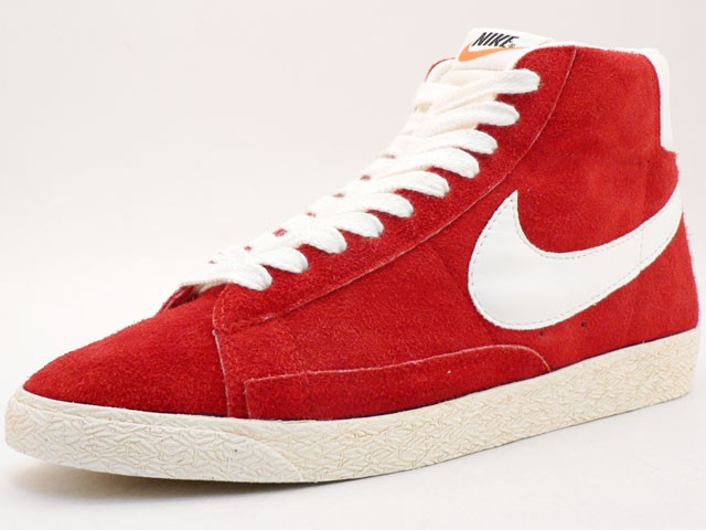 Nike WMNS Blazer Hi Suede Vintage 344344-611 Red White Womens Laced Trainers