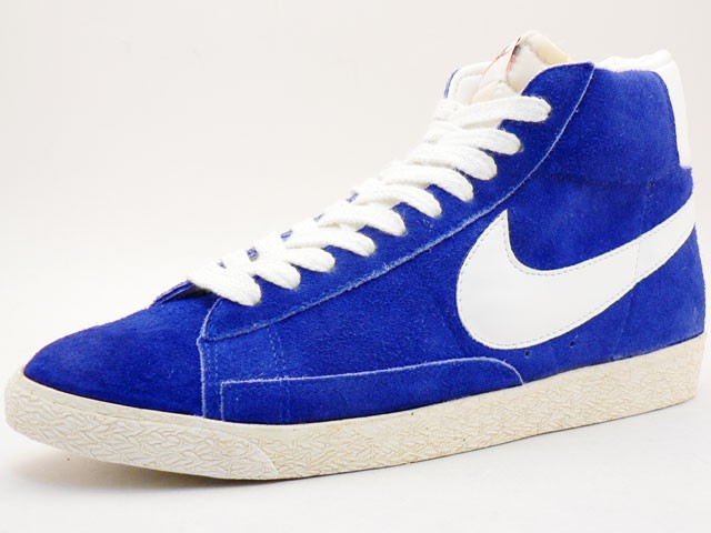 Nike Blazer Hi Suede Vintage 344344-411 Blue White Mens Laced Trainers