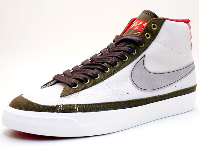 Nike Blazer Mid Premium CL QK 358045-111 Red NAT White Khaki Men's Shoe