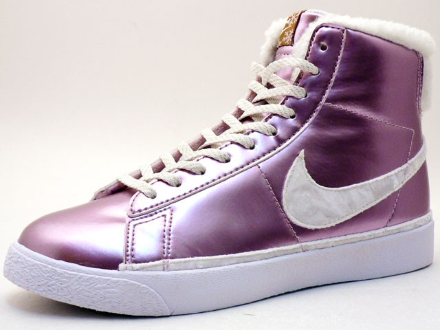Nike WMNS Blazer Cotton Star Classic High Winter 324667-611 Pink White Women's Sneakers