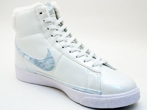 Nike WMNS Blazer Cotton Star Classic High Winter 324667-141 White Blue Women's Sneakers