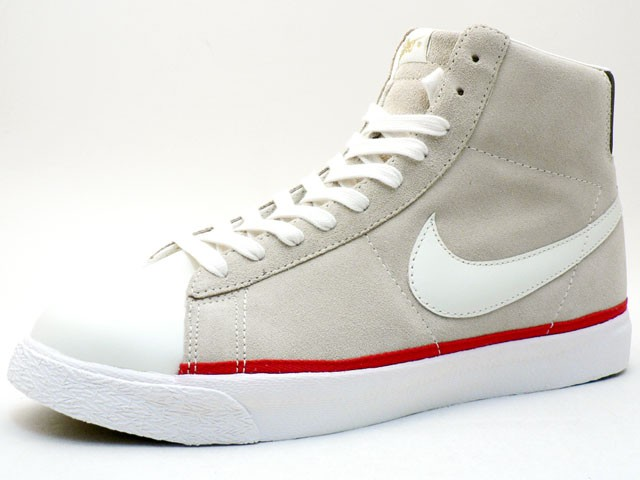 Nike Star Classic High 324666-112 Grey White Red Men's Shoe