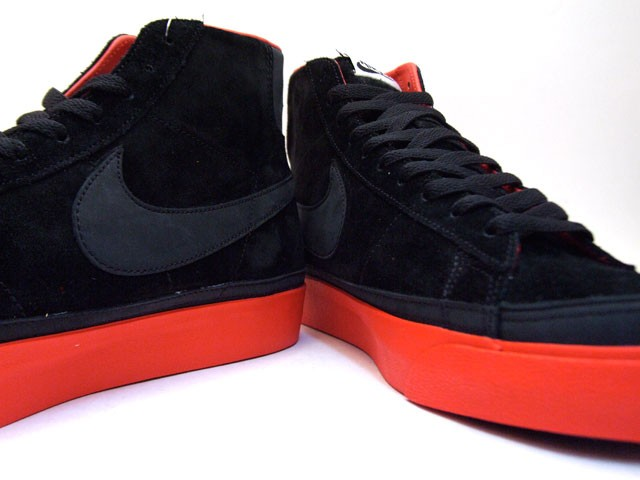 Nike Blazer High Premium QK NBA Pack Portland 346725-001 Black Red Men's Shoe