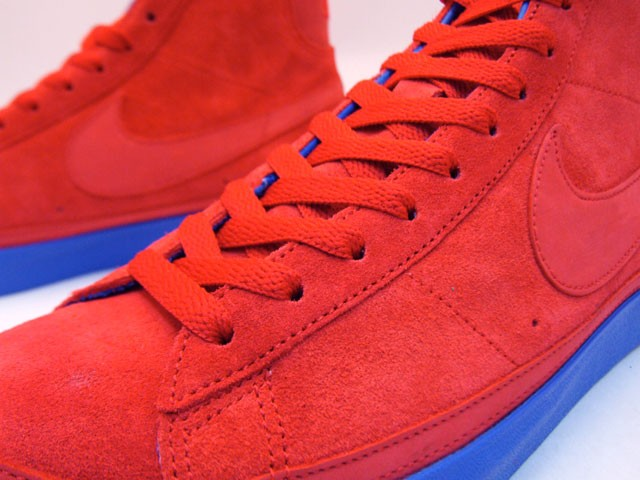 Nike Blazer High Premium QK NBA Pack Philadelphia 346725-661 Red Blue Men's Shoe