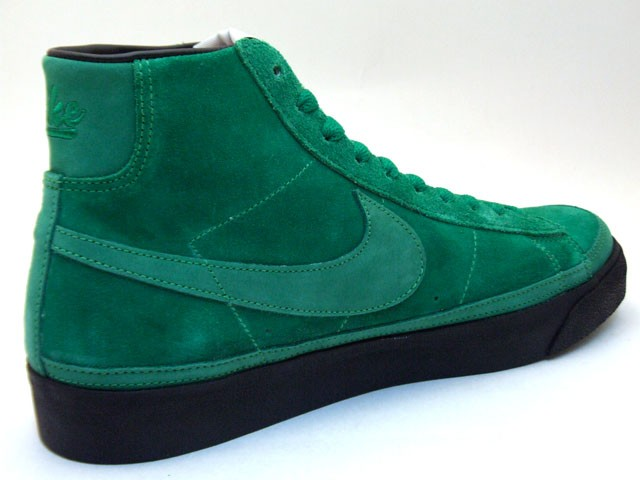 Nike Blazer High Premium QK NBA Pack Boston 346725-331 Green Black Men's Shoe