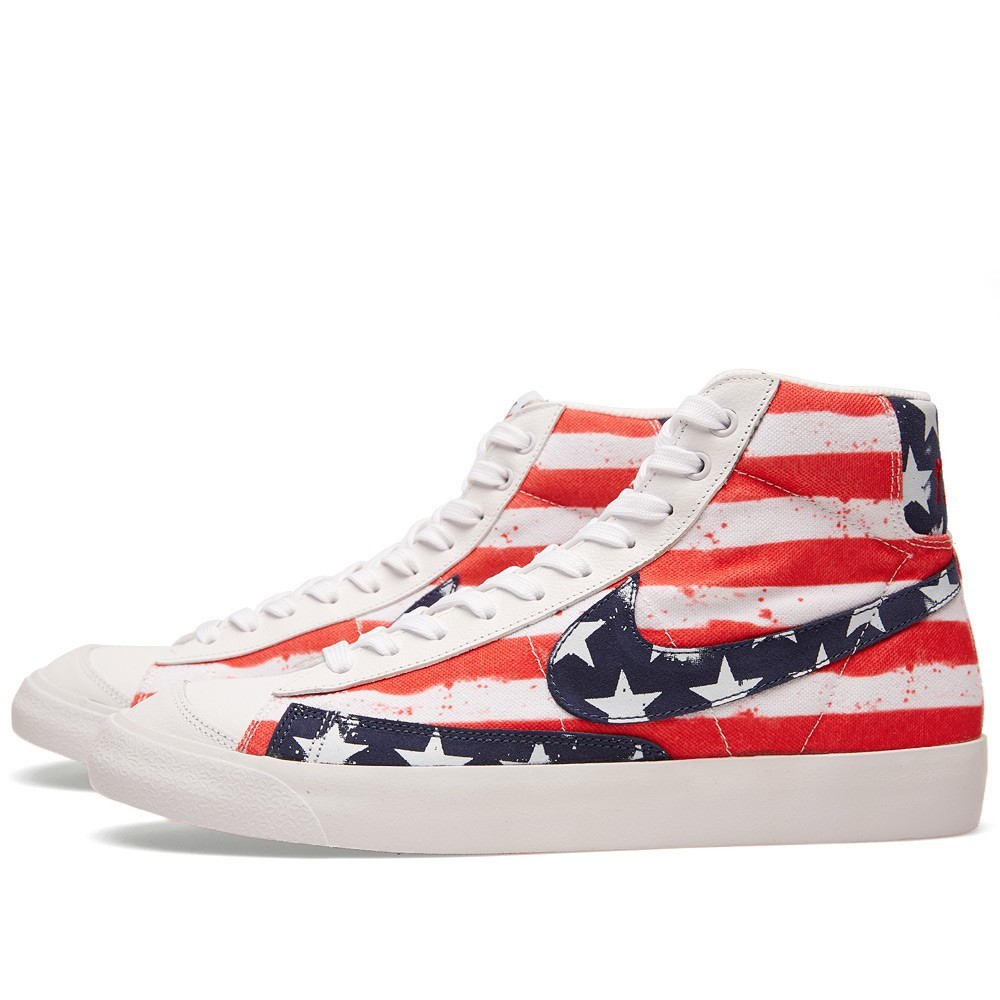 cheap for discount 15faa 95970 Nike Blazer Mid 77 PRM VNTG USA 537327-109 White Mid Navy Red Mens Shoe