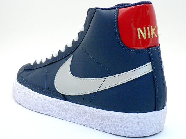 Nike Blazer High Le Olympic/USA Color 316664-401 Navy Silver Red Men's Shoe