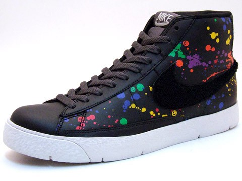 Nike Super Blazer High Premium ND Hybrid Concept 316382-003 Black Multicolor Men's Shoe