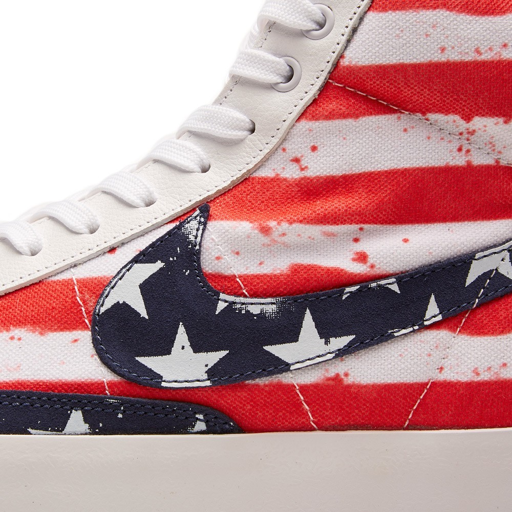 Nike Blazer Mid 77 Independence Day PRM VNTG USA 537327-109 White Mid Navy Red Shoes