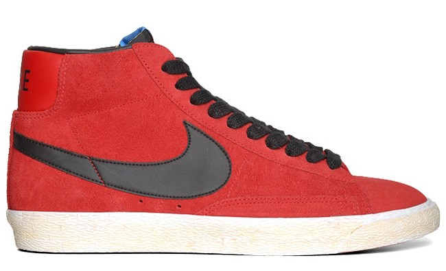 Nike Blazer Mid Vintage PRM Suede Fall 2012 Red Black Mens High Top Sneakers