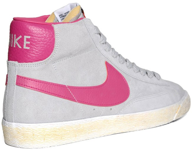 Nike Blazer Mid Vintage PRM Suede Fall 2012 Cement Grey Rose Violet Men's Shoe