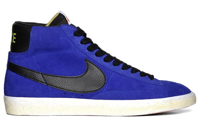 Nike Blazer Mid Vintage PRM Suede Fall 2012 Blue Black Electric Yellow Men's Shoe