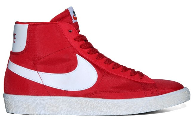 Nike WMNS Blazer Hi Vintage Nylon Red White Womens Laced Trainers