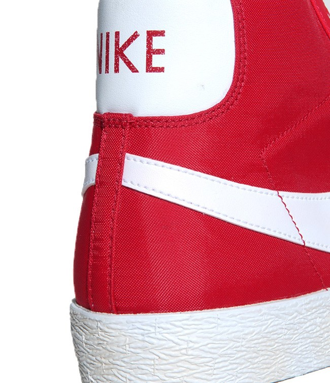 Nike Blazer Hi Vintage Nylon Red White Mens Laced Trainers