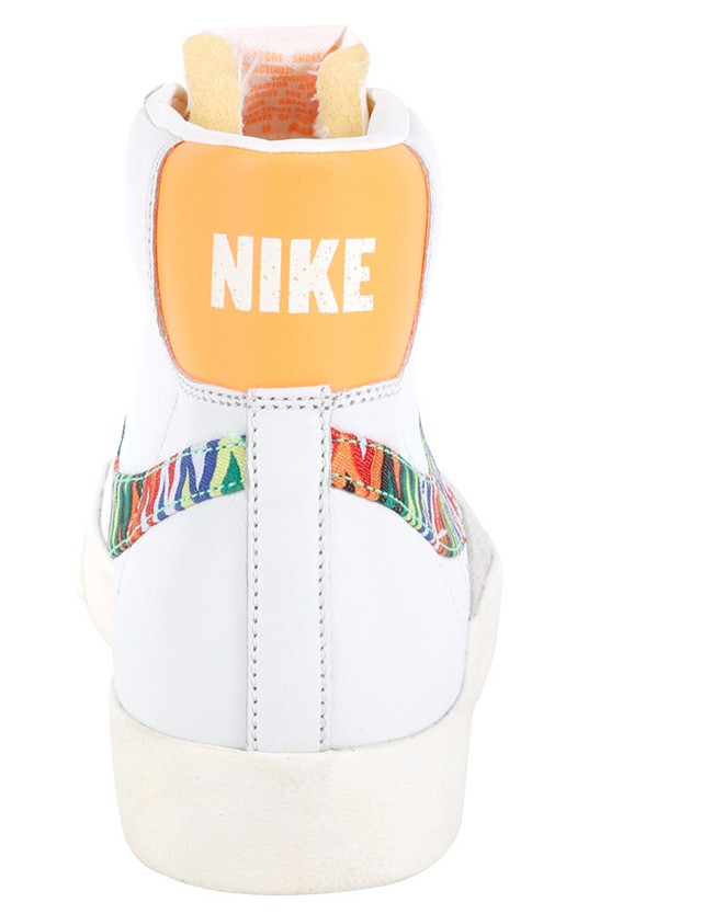 Nike Blazer Mid 77 Premium Vintage Zig Zag White Orange Multicolor Men's Shoe