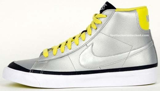 Nike Blazer Mid Christmas Pack Metallic Silver Electro Lime Black White Shoes