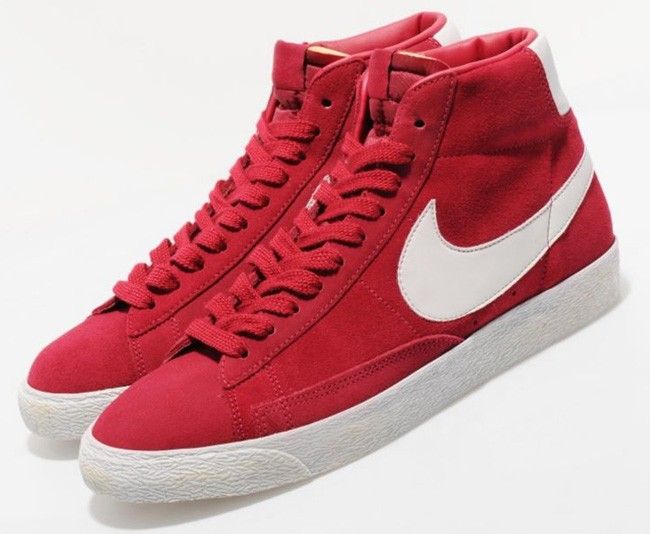 Nike WMNS Blazer Hi Vintage Legacy Red White Womens Laced Trainers
