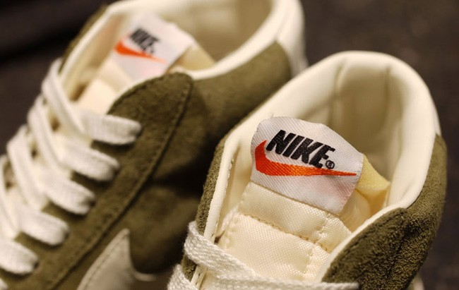 Nike WMNS Blazer Mid Premium Vintage 2012 Olive Green Sail Womens Trainers