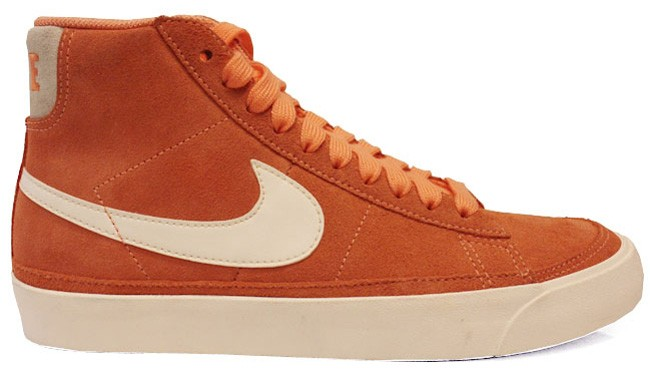 Nike WMNS Blazer Mid Premium 2012 Melon Crush Orange Sail Women's Sneakers