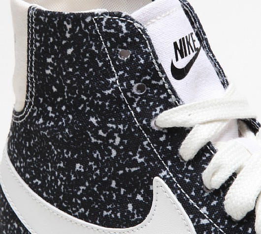 Nike Blazer Mid Decon Speckled Canvas Black White Womens and Mens Trainers