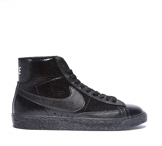 Nike WMNS Blazer Mid Leather Premium (Ltr Prm) 685225-001 Black Women's Shoe