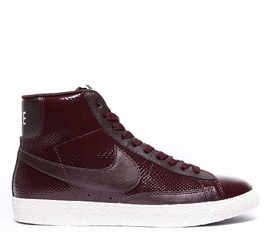 Nike WMNS Blazer Mid Leather Premium Burgundy White Women's Shoe