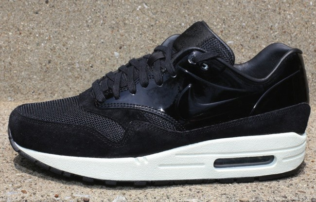 finest selection df191 22267 ... france nike wmns air max 1 vt qs black patent 615868 001 black sail  womens casual ...