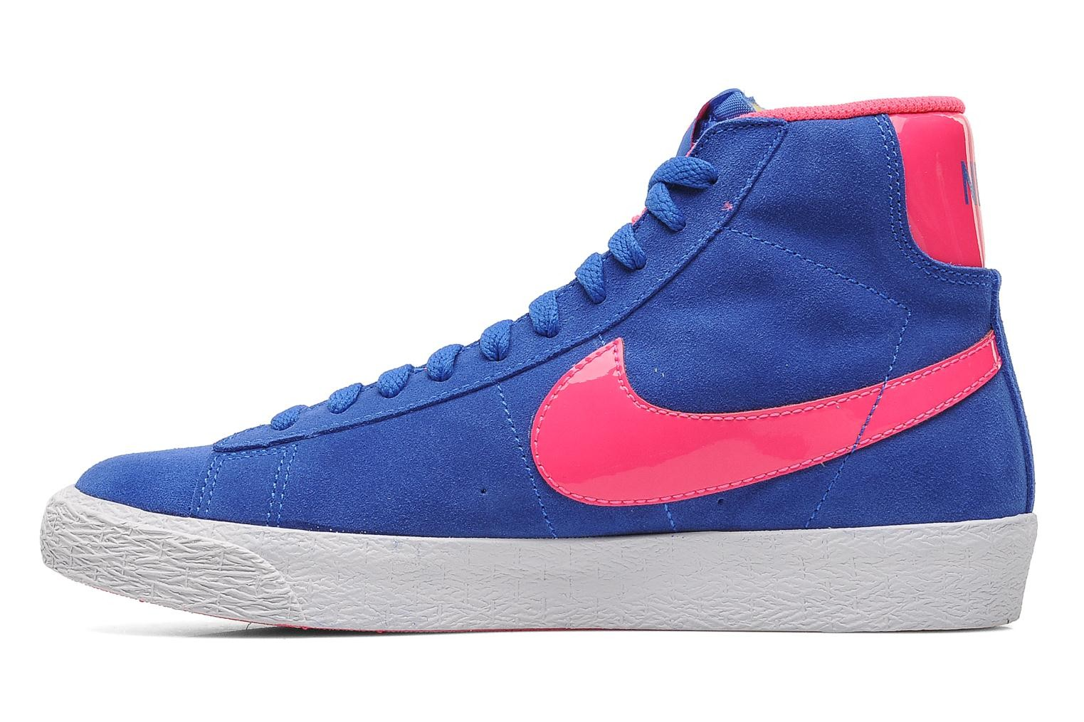 Nike Blazer Mid Vintage (GS) Hyper Cobalt Hyper Pink White Youths Trainers