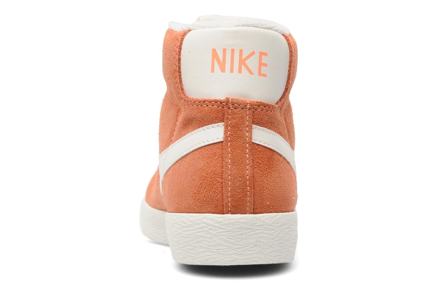 Nike WMNS Blazer Mid Suede Vintage Atomic Pink Sail Womens High Top Sneakers