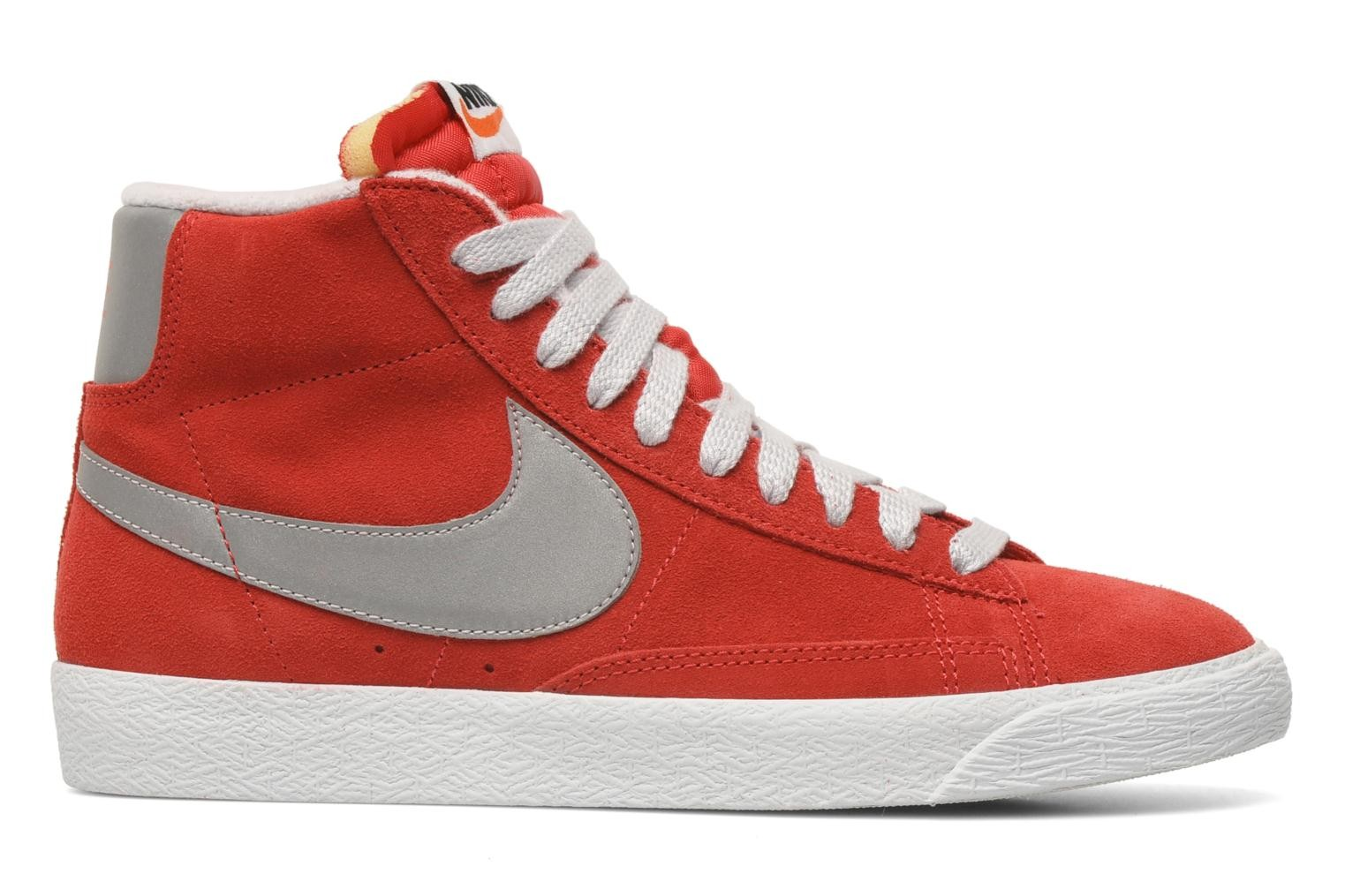 Nike Blazer Mid Prm Vintage Suede Distinct Red Reflect Silver Pure Platinium Men's Shoe