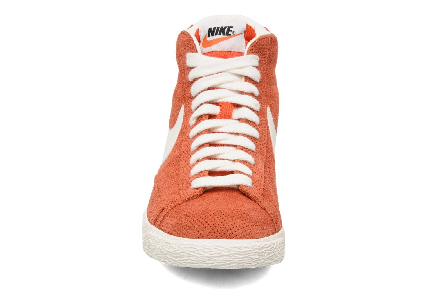 Nike Blazer Mid Prm Vintage Suede Gamma Orange Sail Mens High Top Sneakers