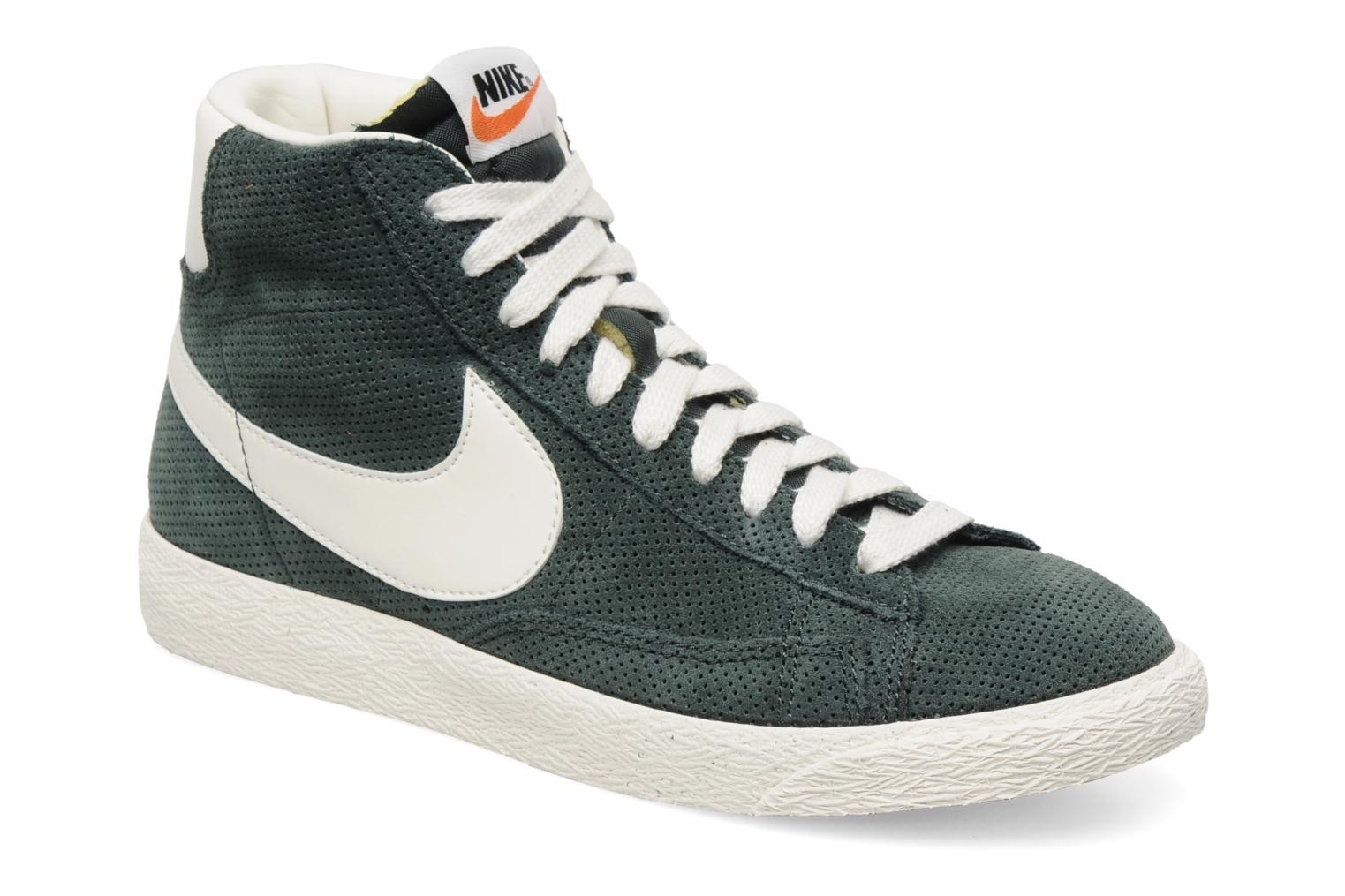 Nike Blazer Mid Prm Vintage Suede Black Spruce Sail Mens High Top Sneakers