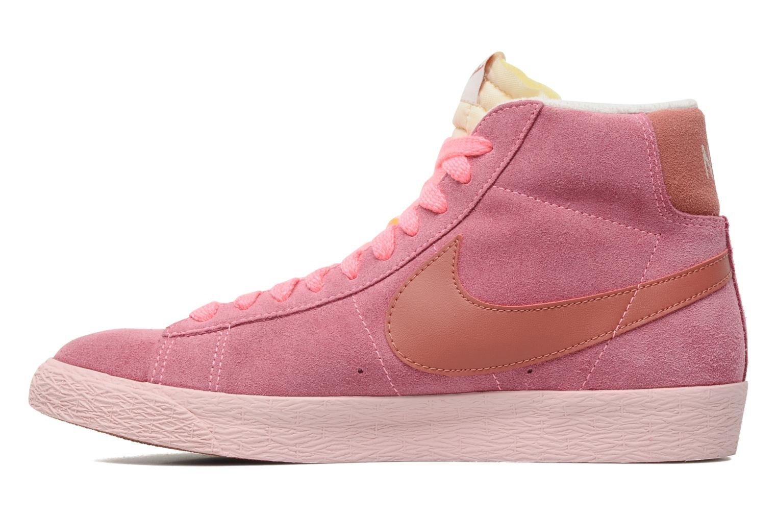 Nike WMNS Blazer Mid Suede Vintage Polarized Pink Light Redwood Sail Pink Glaze Womens High Top Sneakers