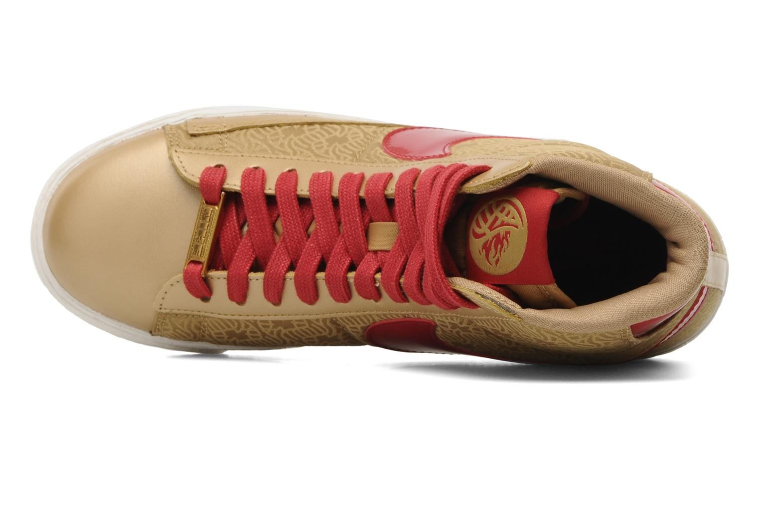 Nike WMNS Blazer Mid Yoth Metallic Gold Gym Red Womens High Top Sneakers